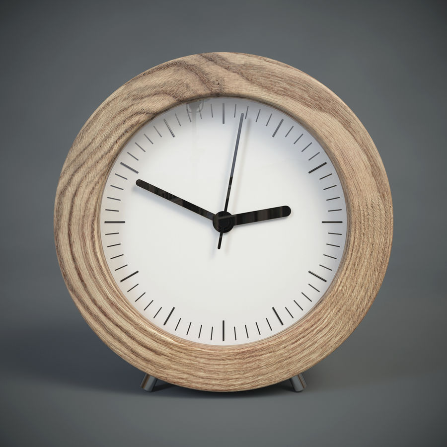 Relógio de mesa royalty-free 3d model - Preview no. 3