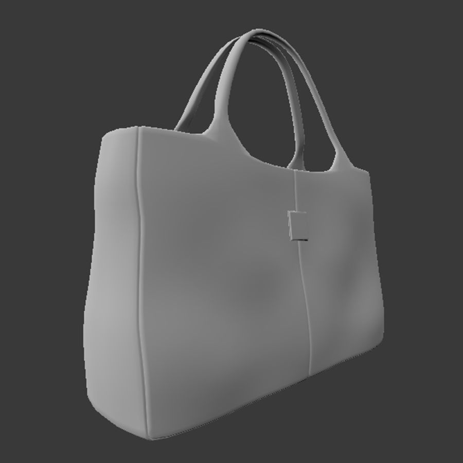 Shopping Bag royalty-free 3d model - Preview no. 3