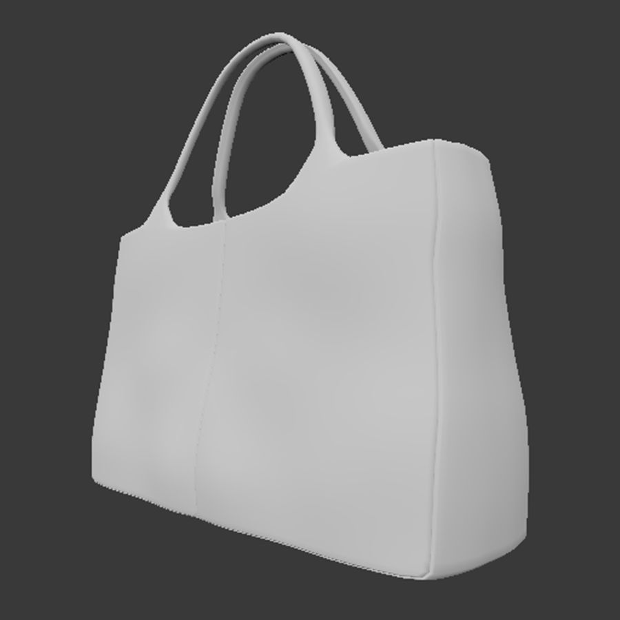 Shopping Bag royalty-free 3d model - Preview no. 4