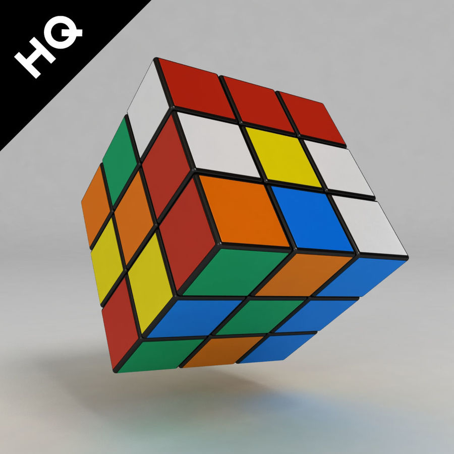 cubo di Rubik royalty-free 3d model - Preview no. 3