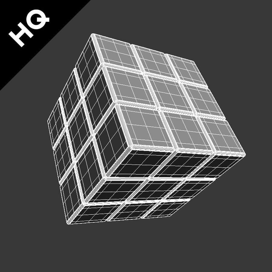 cubo di Rubik royalty-free 3d model - Preview no. 10