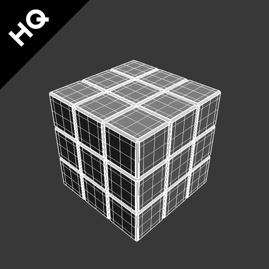 cubo di Rubik royalty-free 3d model - Preview no. 13