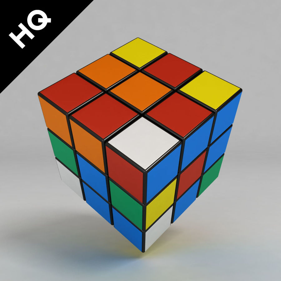cubo di Rubik royalty-free 3d model - Preview no. 1