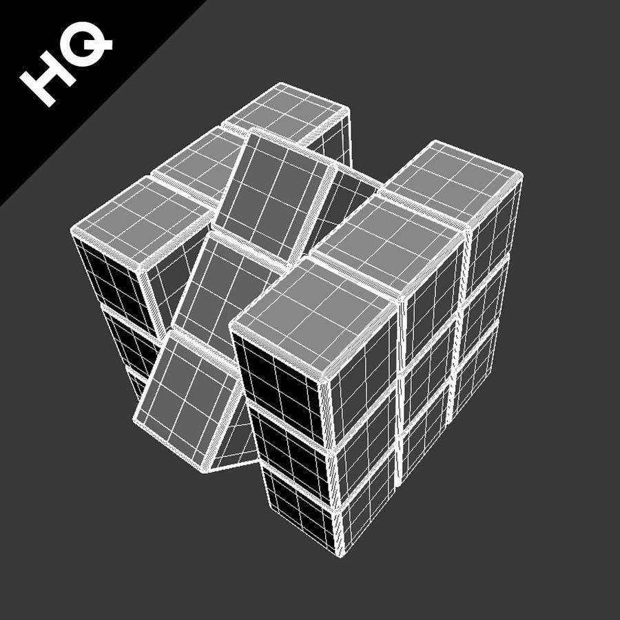 rubiks cube royalty-free 3d model - Preview no. 11
