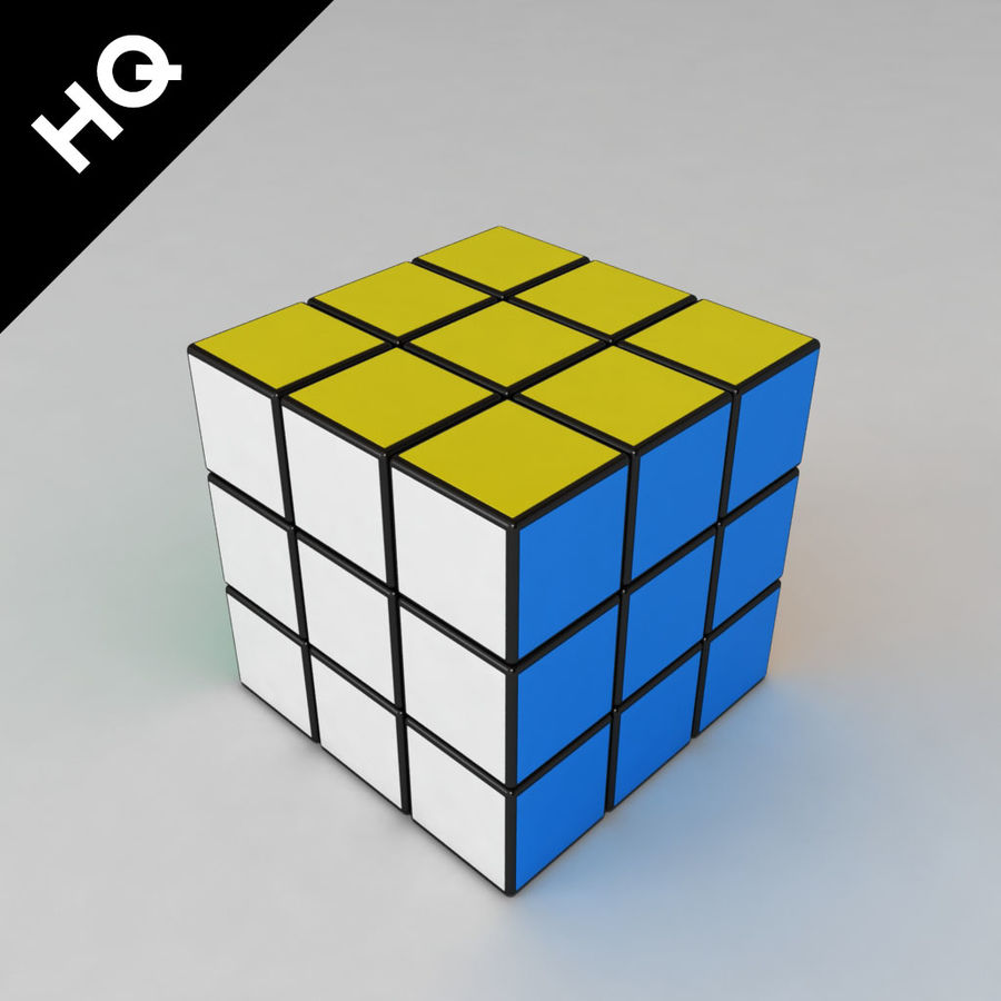 cubo di Rubik royalty-free 3d model - Preview no. 6