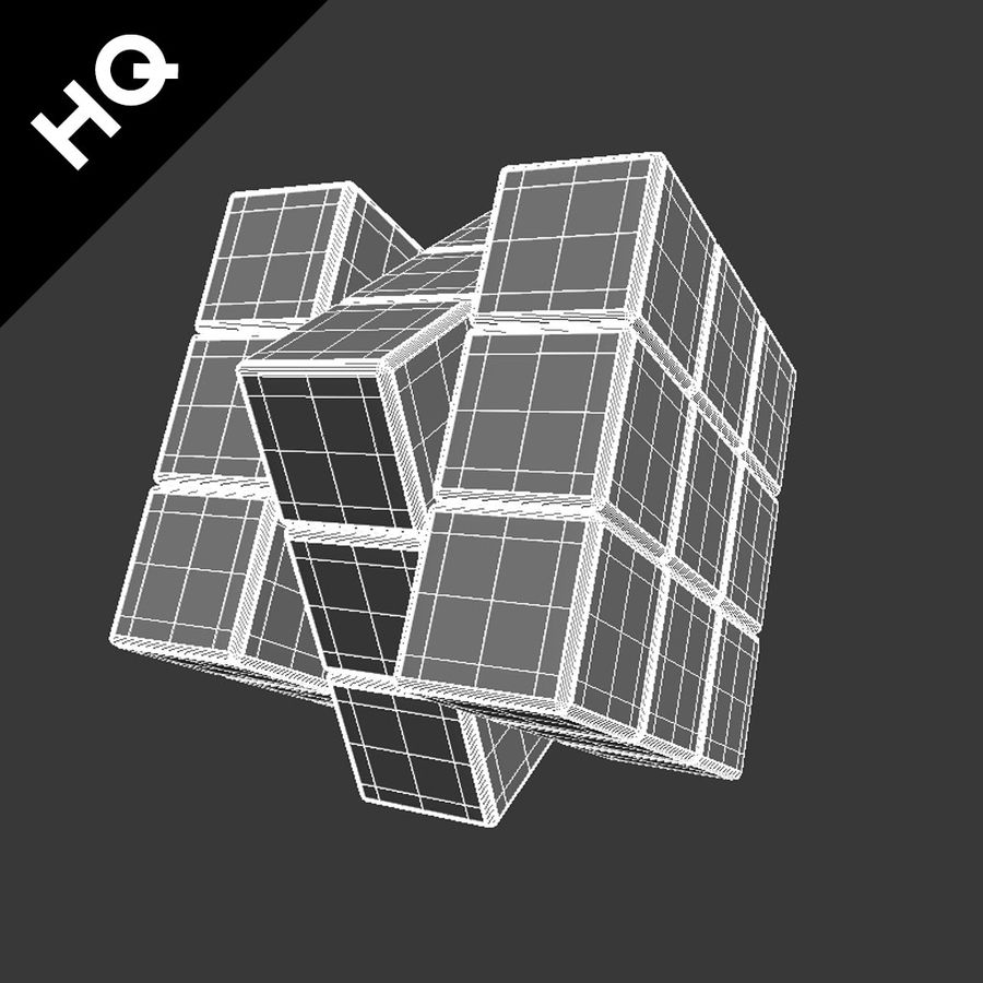 cubo di Rubik royalty-free 3d model - Preview no. 12