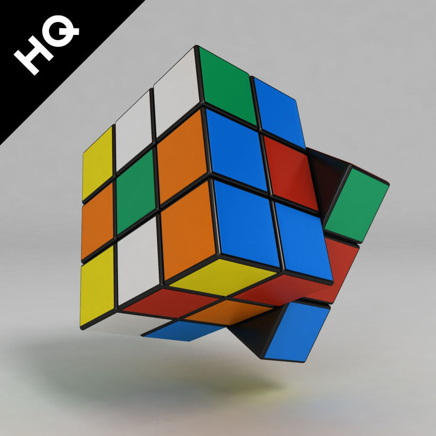 cubo di Rubik royalty-free 3d model - Preview no. 2