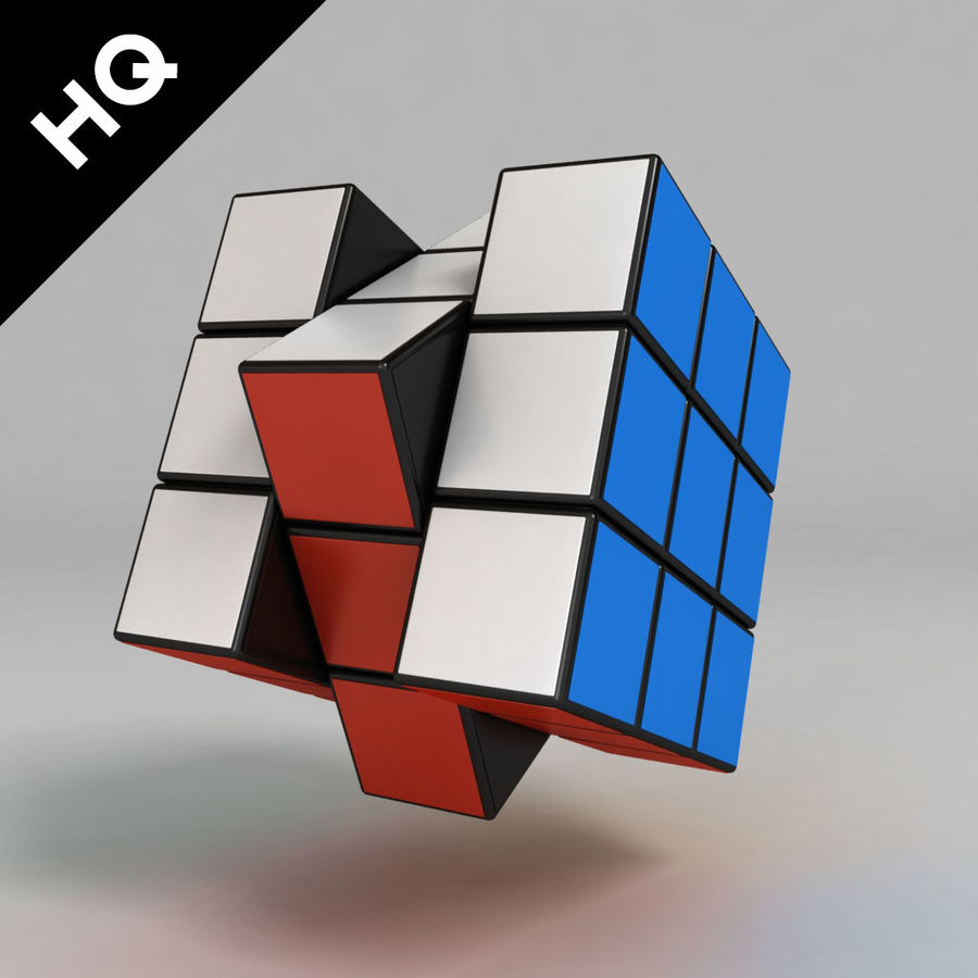 cubo di Rubik royalty-free 3d model - Preview no. 5