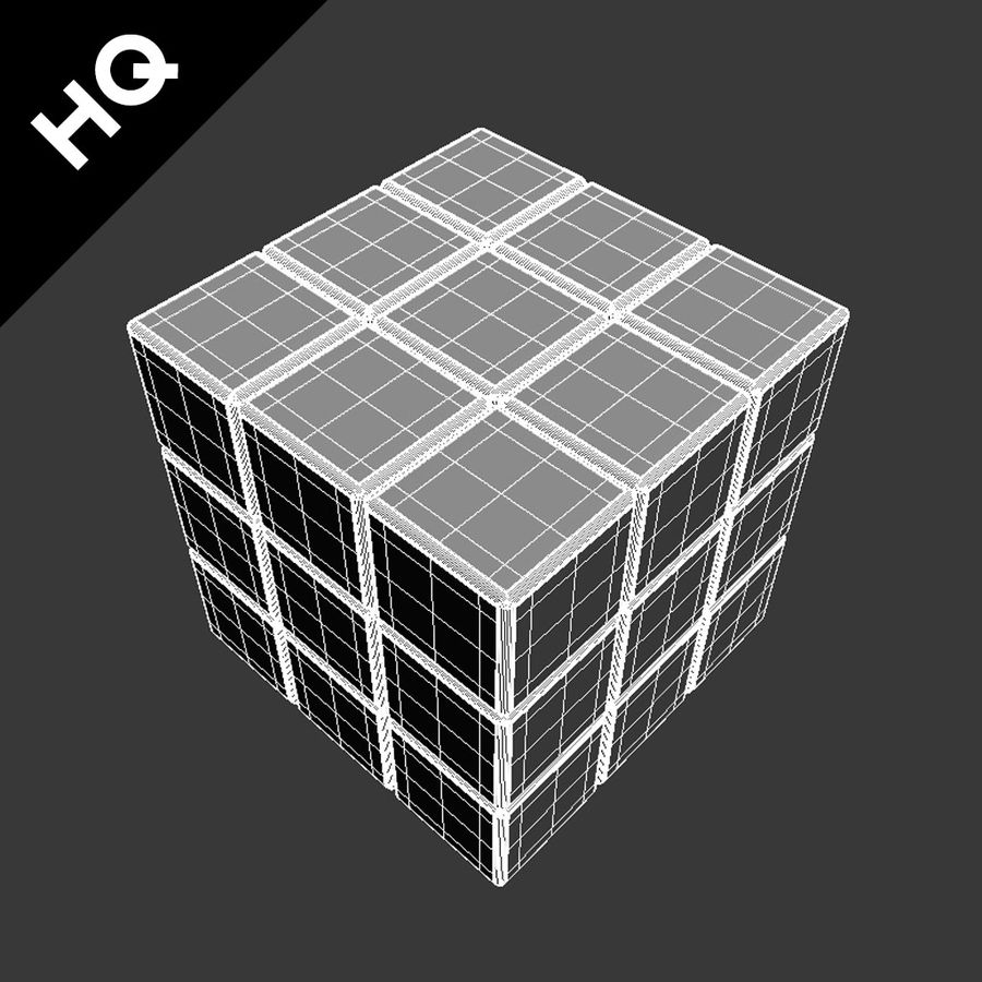 cubo di Rubik royalty-free 3d model - Preview no. 8