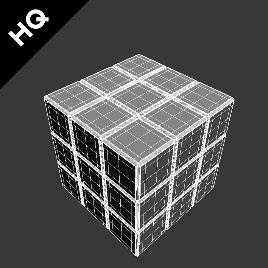 rubiks cube royalty-free 3d model - Preview no. 14