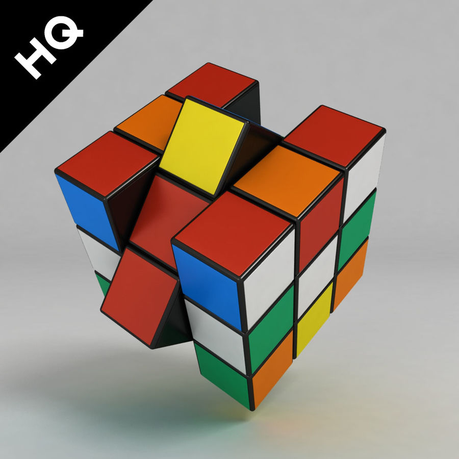 cubo di Rubik royalty-free 3d model - Preview no. 4
