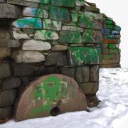 Ruins 1 - with graffiti 3d model