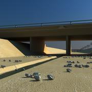at Los Angeles Bridge on Ditch River 3d model