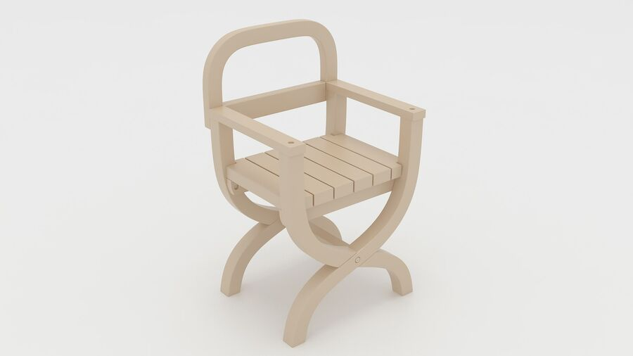 Stoel voor tuin royalty-free 3d model - Preview no. 3