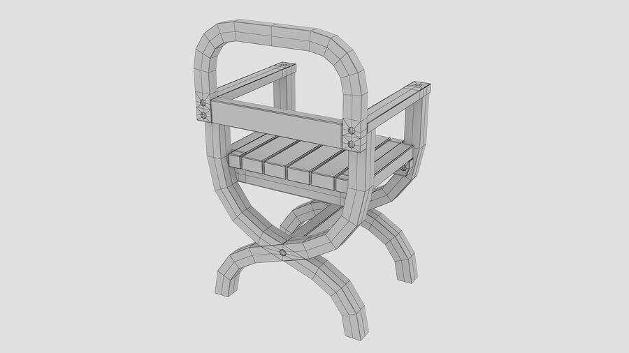 Stoel voor tuin royalty-free 3d model - Preview no. 10