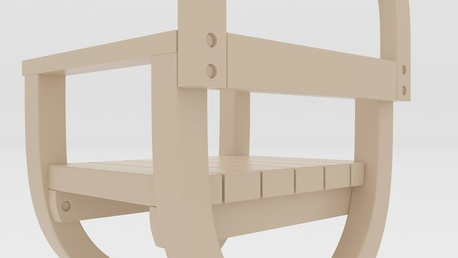 Stoel voor tuin royalty-free 3d model - Preview no. 8