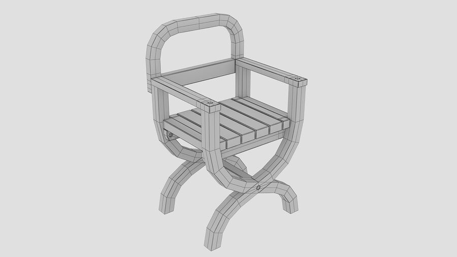 Stoel voor tuin royalty-free 3d model - Preview no. 9