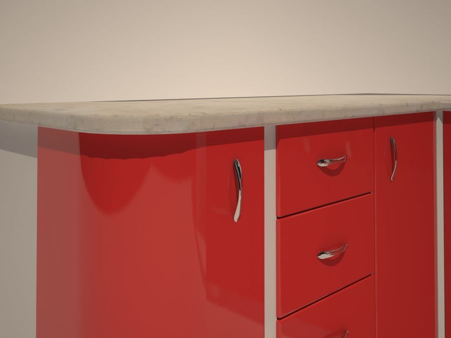 Gabinetes de cocina modernos royalty-free modelo 3d - Preview no. 2