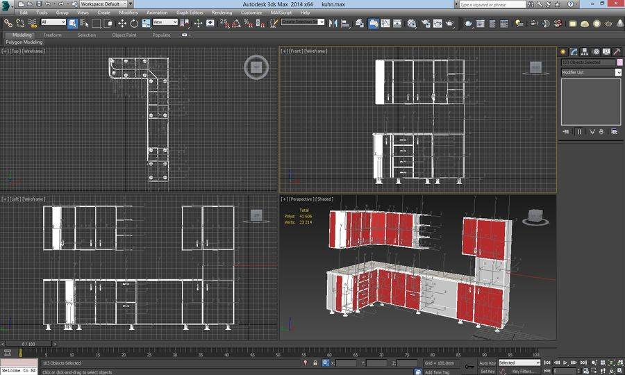 Gabinetes de cocina modernos royalty-free modelo 3d - Preview no. 5