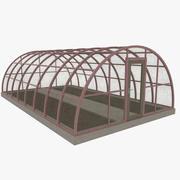 Växthus en strukturerad 3d model