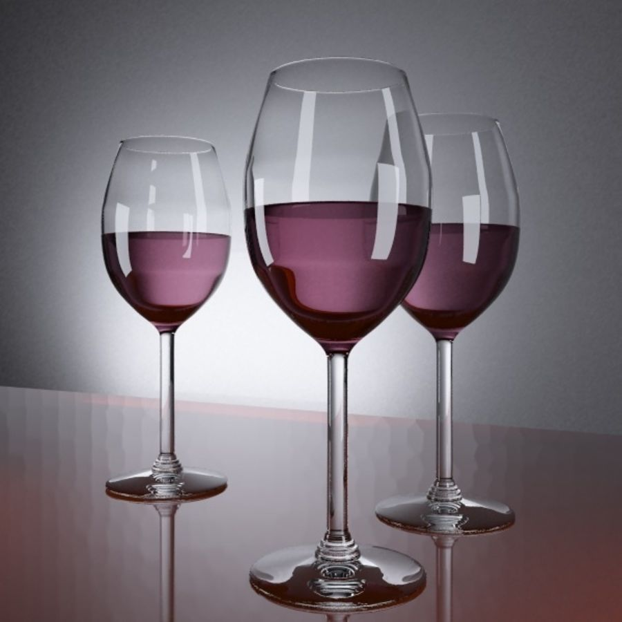 bicchiere di vino royalty-free 3d model - Preview no. 2