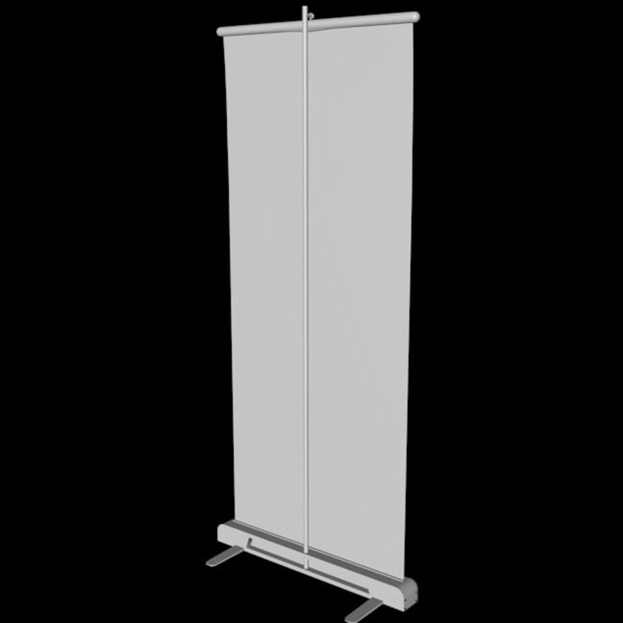 Подставка для дисплея RollUp royalty-free 3d model - Preview no. 12