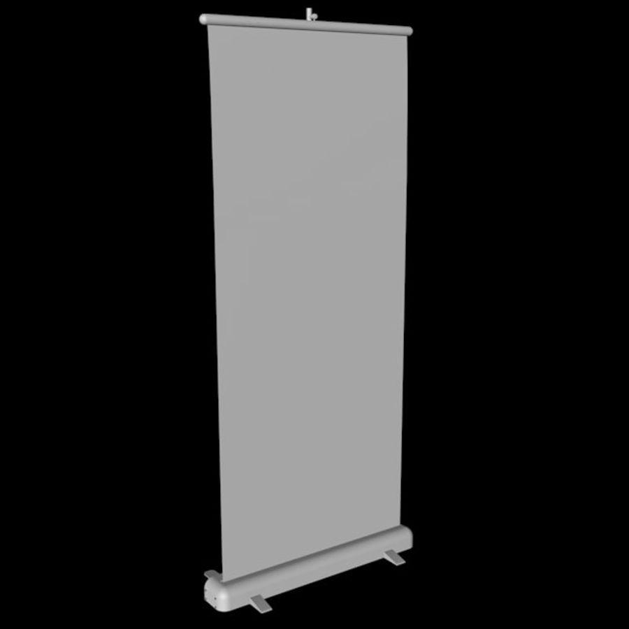 Подставка для дисплея RollUp royalty-free 3d model - Preview no. 13