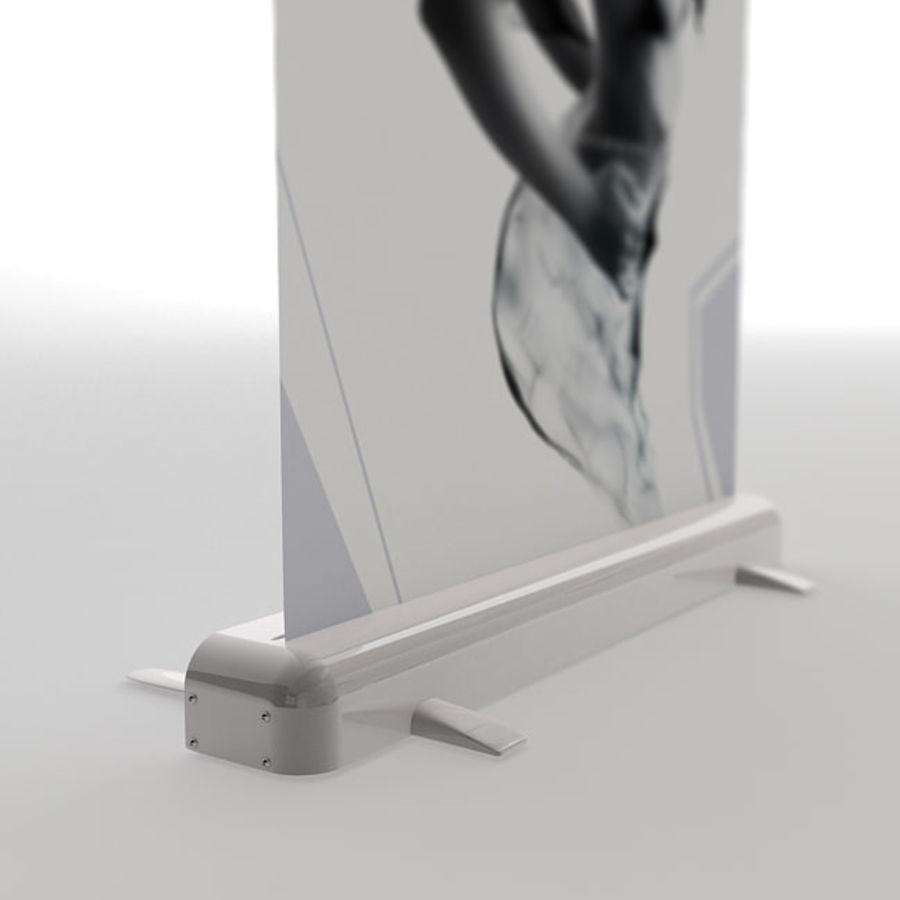 Подставка для дисплея RollUp royalty-free 3d model - Preview no. 4