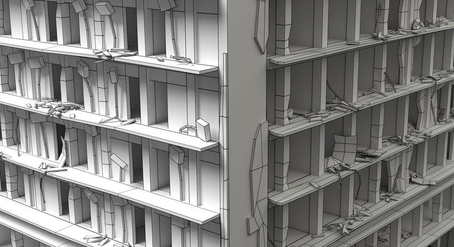 被毁的建筑物 royalty-free 3d model - Preview no. 8