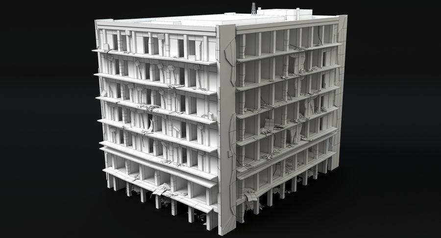 被毁的建筑物 royalty-free 3d model - Preview no. 7