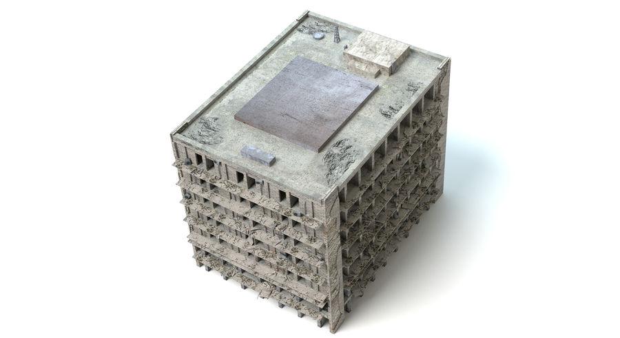 被毁的建筑物 royalty-free 3d model - Preview no. 4
