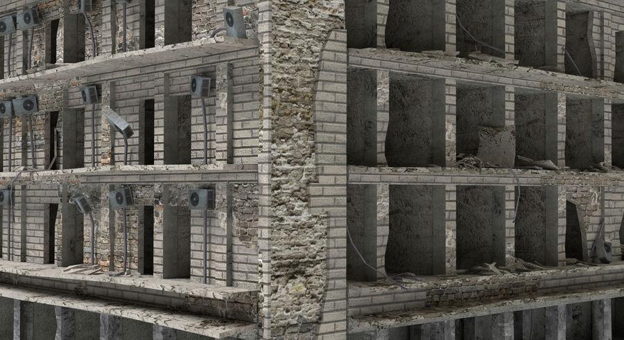 被毁的建筑物 royalty-free 3d model - Preview no. 5