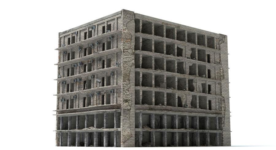 被毁的建筑物 royalty-free 3d model - Preview no. 3
