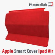 Apple Ipad Air Smart Cover Red 3D 모델 3d model