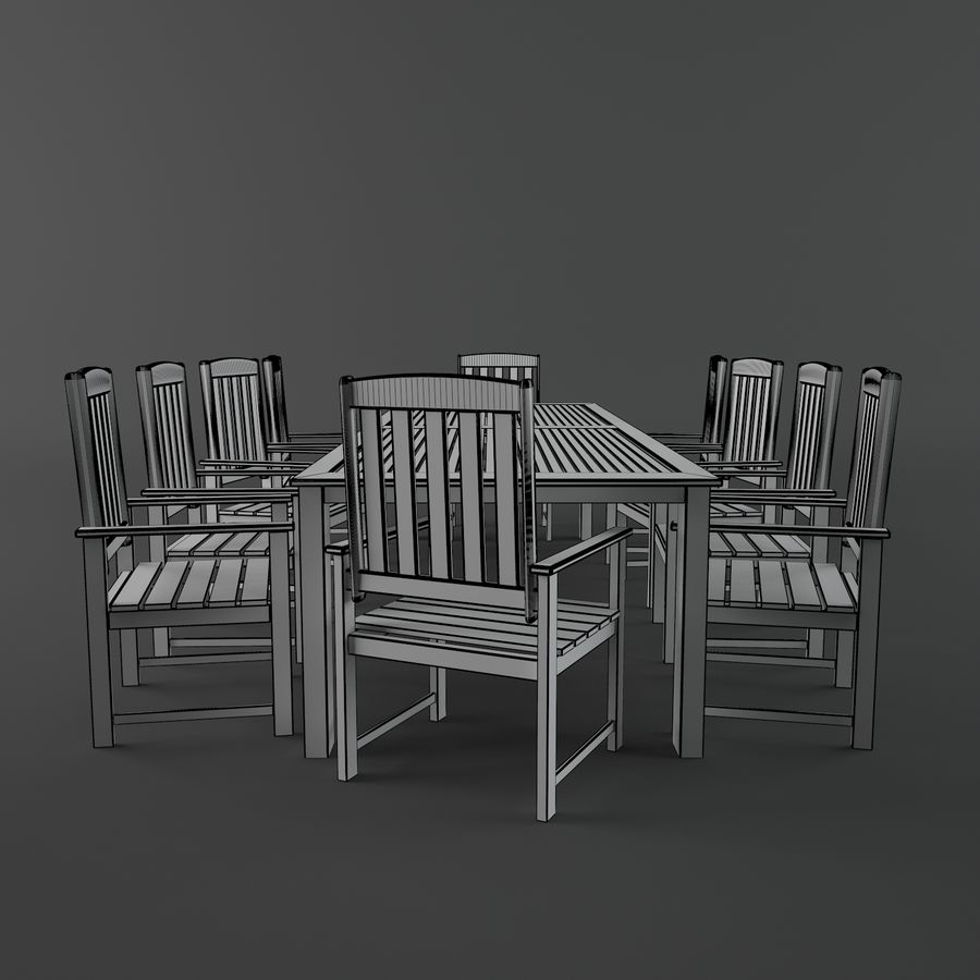 목재 가구 royalty-free 3d model - Preview no. 7