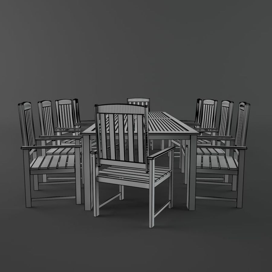 Meble drewniane royalty-free 3d model - Preview no. 7