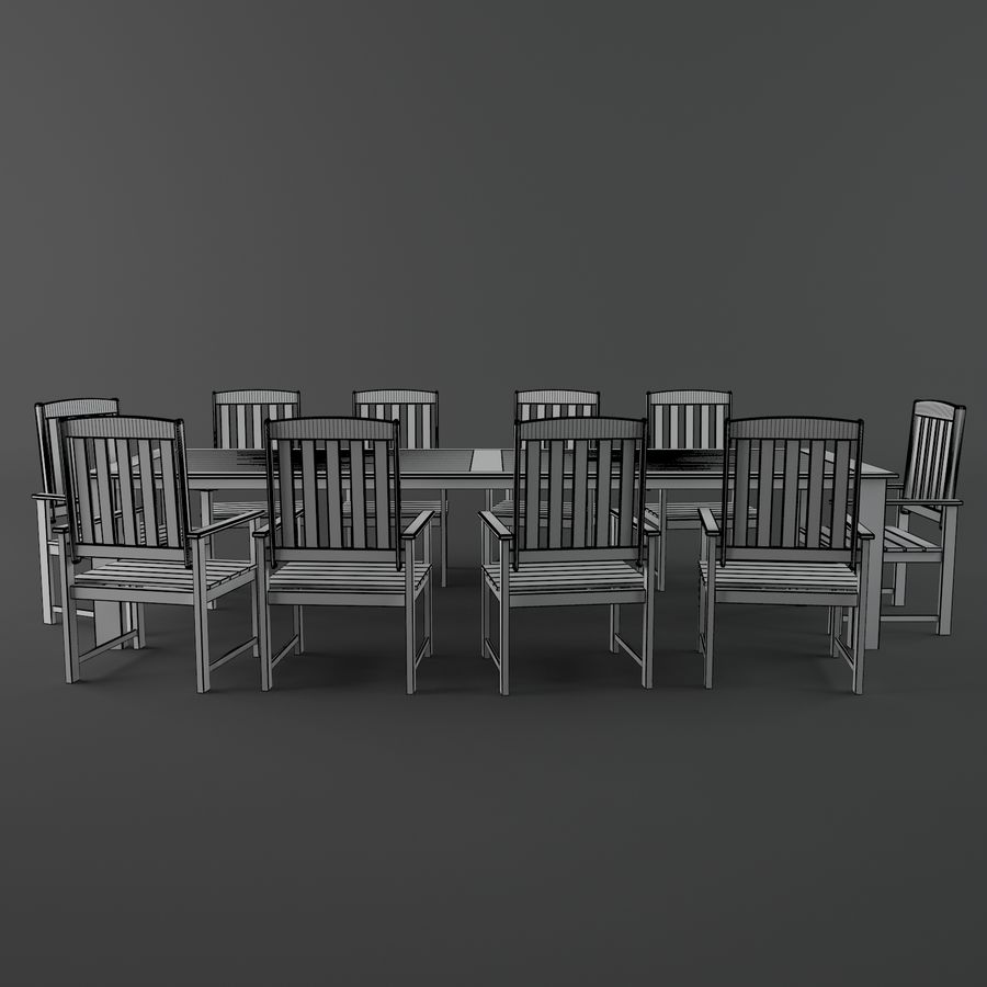 목재 가구 royalty-free 3d model - Preview no. 5