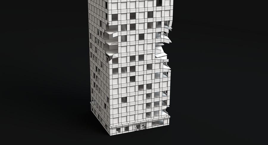 被毁的3号楼 royalty-free 3d model - Preview no. 9
