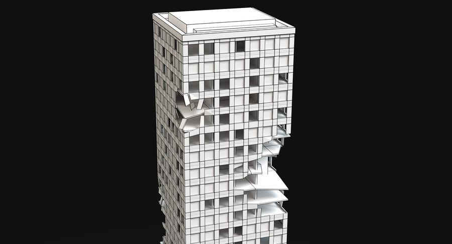 被毁的3号楼 royalty-free 3d model - Preview no. 10