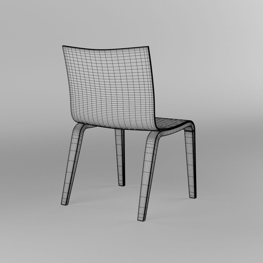 Proste krzesło royalty-free 3d model - Preview no. 16