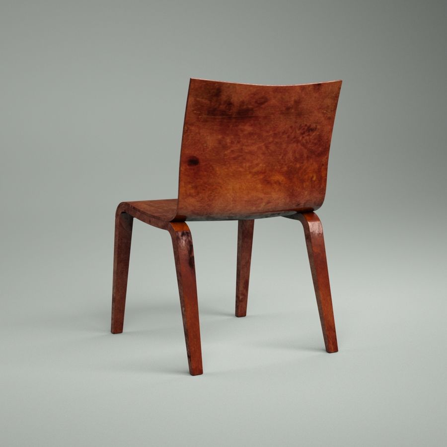 Proste krzesło royalty-free 3d model - Preview no. 10