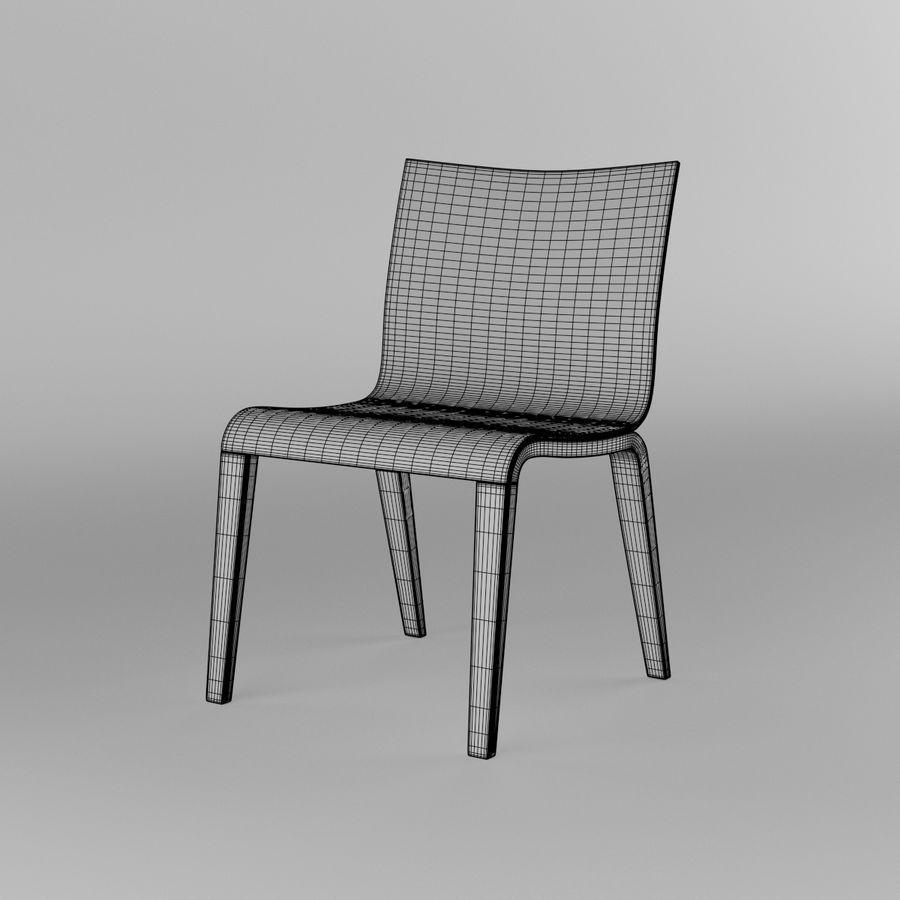 Proste krzesło royalty-free 3d model - Preview no. 8