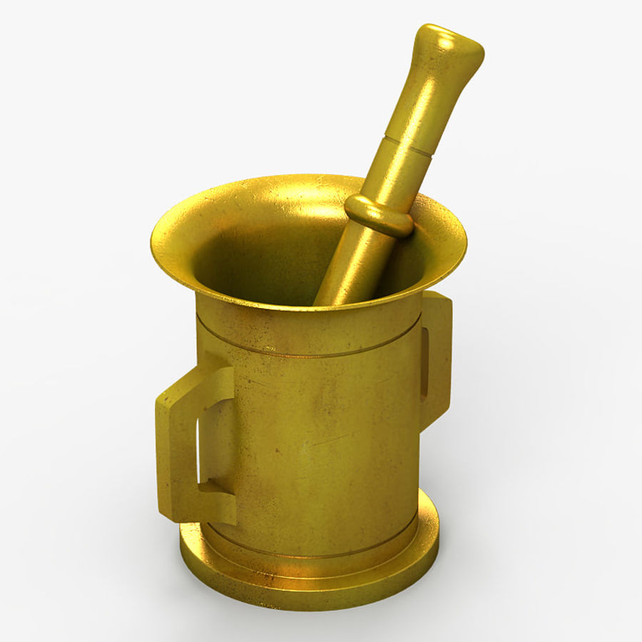 Mortar and Pestle 2 royalty-free 3d model - Preview no. 1