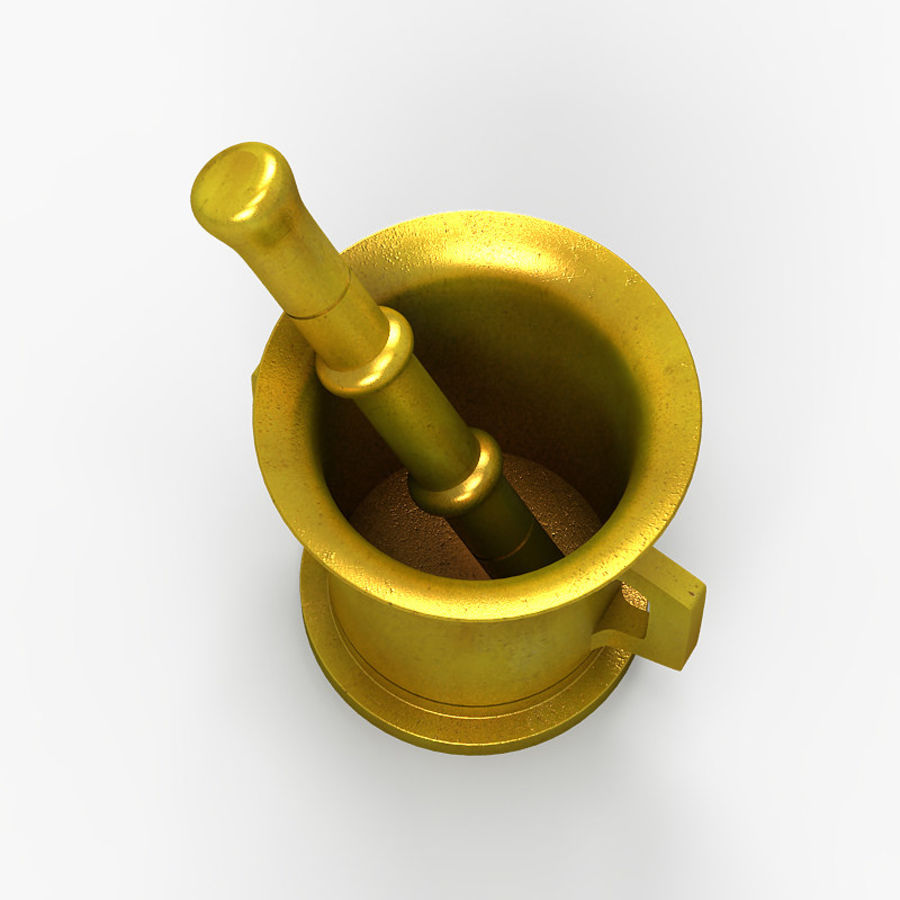 Mortar and Pestle 2 royalty-free 3d model - Preview no. 4
