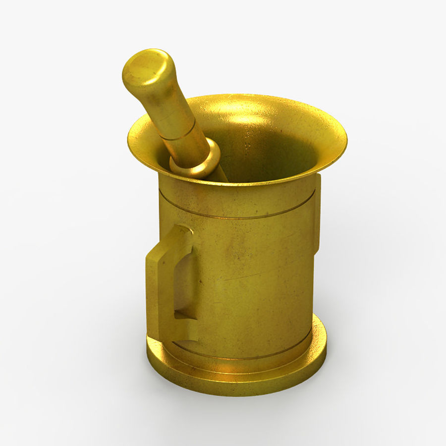 Mortar and Pestle 2 royalty-free 3d model - Preview no. 5