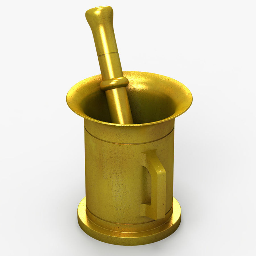 Mortar and Pestle 2 royalty-free 3d model - Preview no. 3