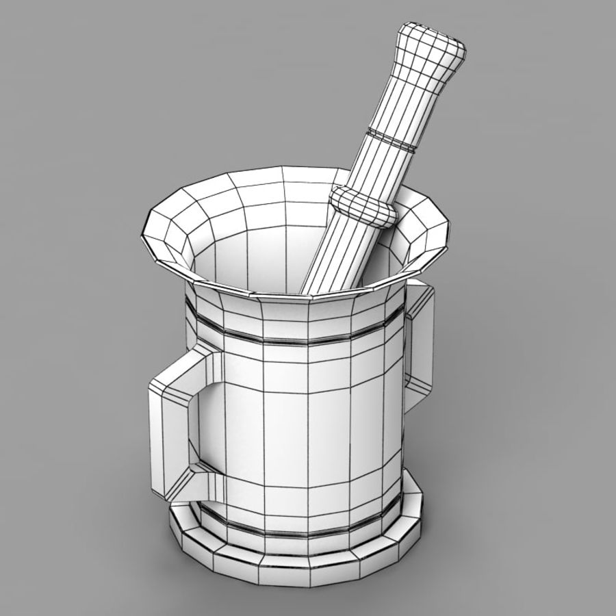 Mortar and Pestle 2 royalty-free 3d model - Preview no. 6