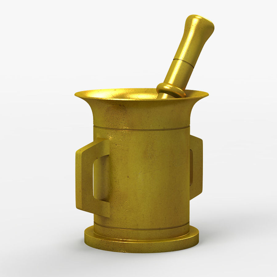 Mortar and Pestle 2 royalty-free 3d model - Preview no. 2