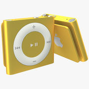 iPod Shuffle Orange 3D Model 3d model