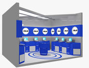 Booth Exhibition Stand 14B 3d model